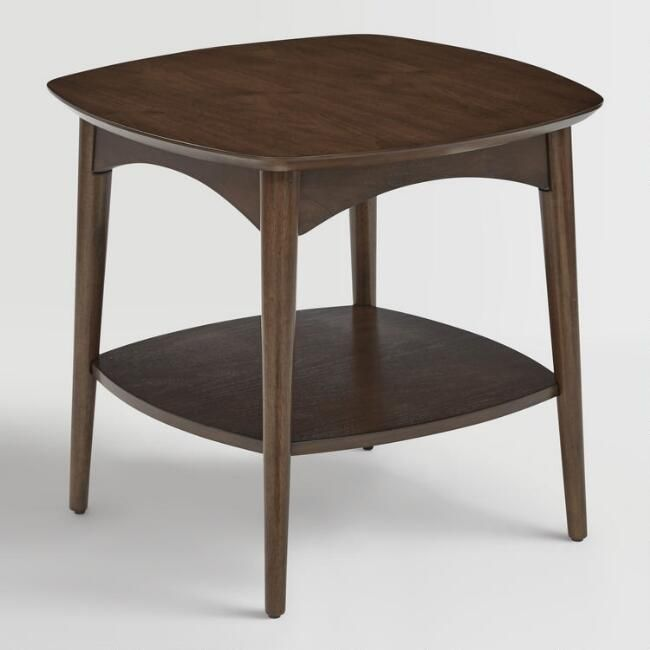 Walnut Brown Wood Brewston Coffee Table: Walnut Brown Wood Brewston Accent Table By World Market