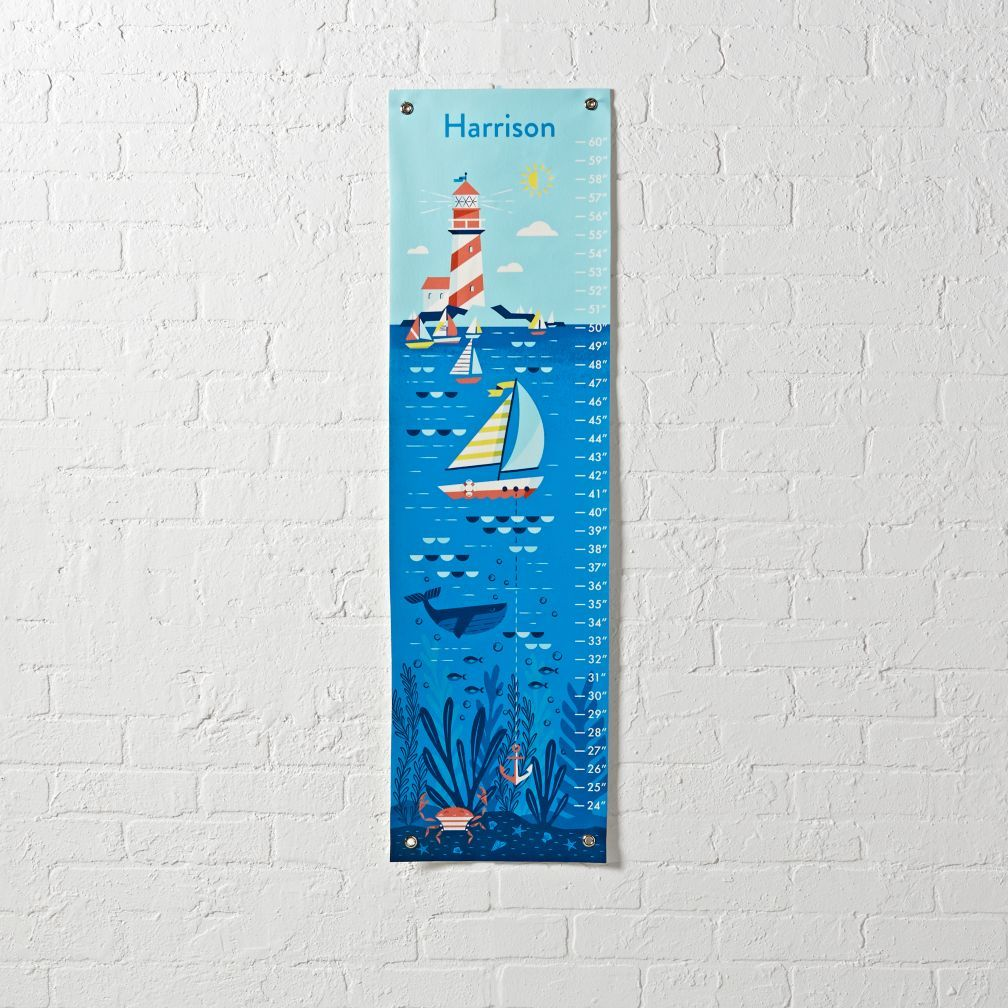 The land of nod nautical growth chart baby c pinterest growth