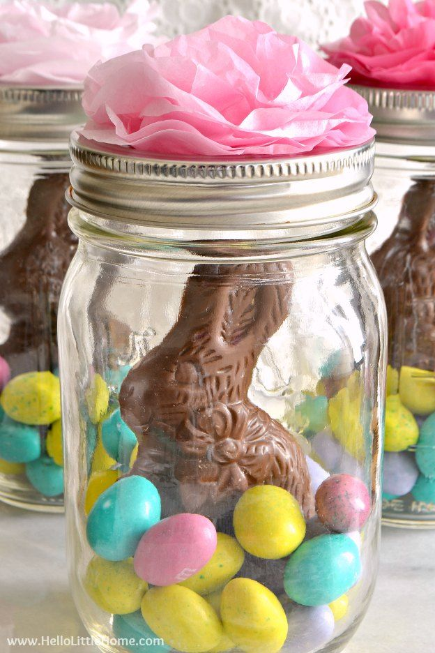 Mason Jar Easter Baskets Easter Birthday Party Easter Party