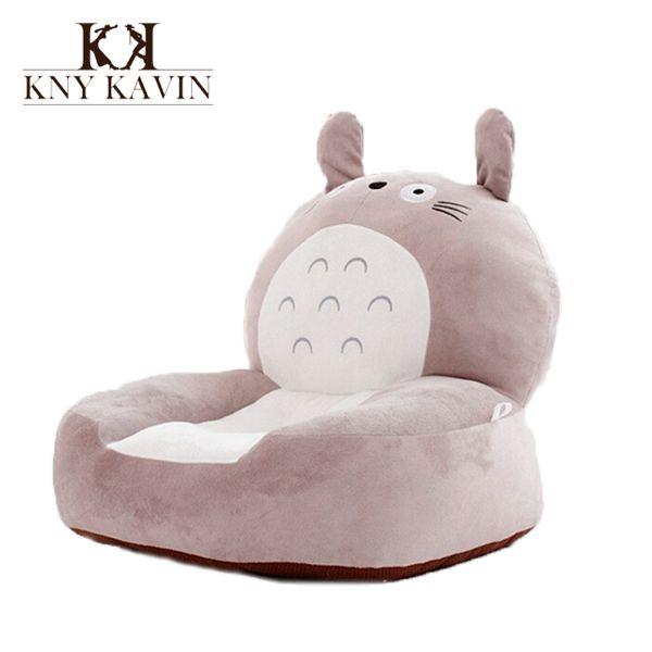 High Baby Bean Bag Kids ChairSofa Totoro Childrens Plush Chair Cartoon Seat Sofa Cotton Toys For Children