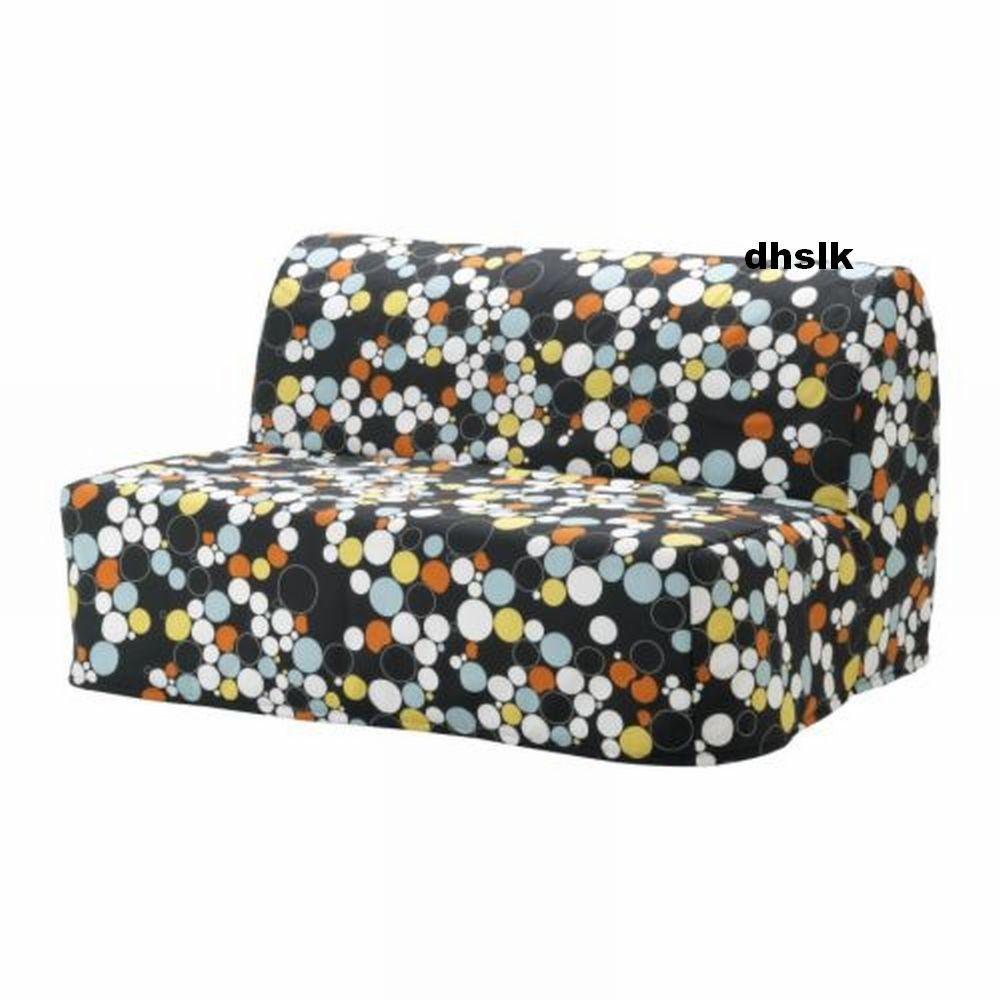 Ikea Lycksele Sofa Bed Slipcover Cover Balstra Multicolor BÃ Lsta Mod Dots
