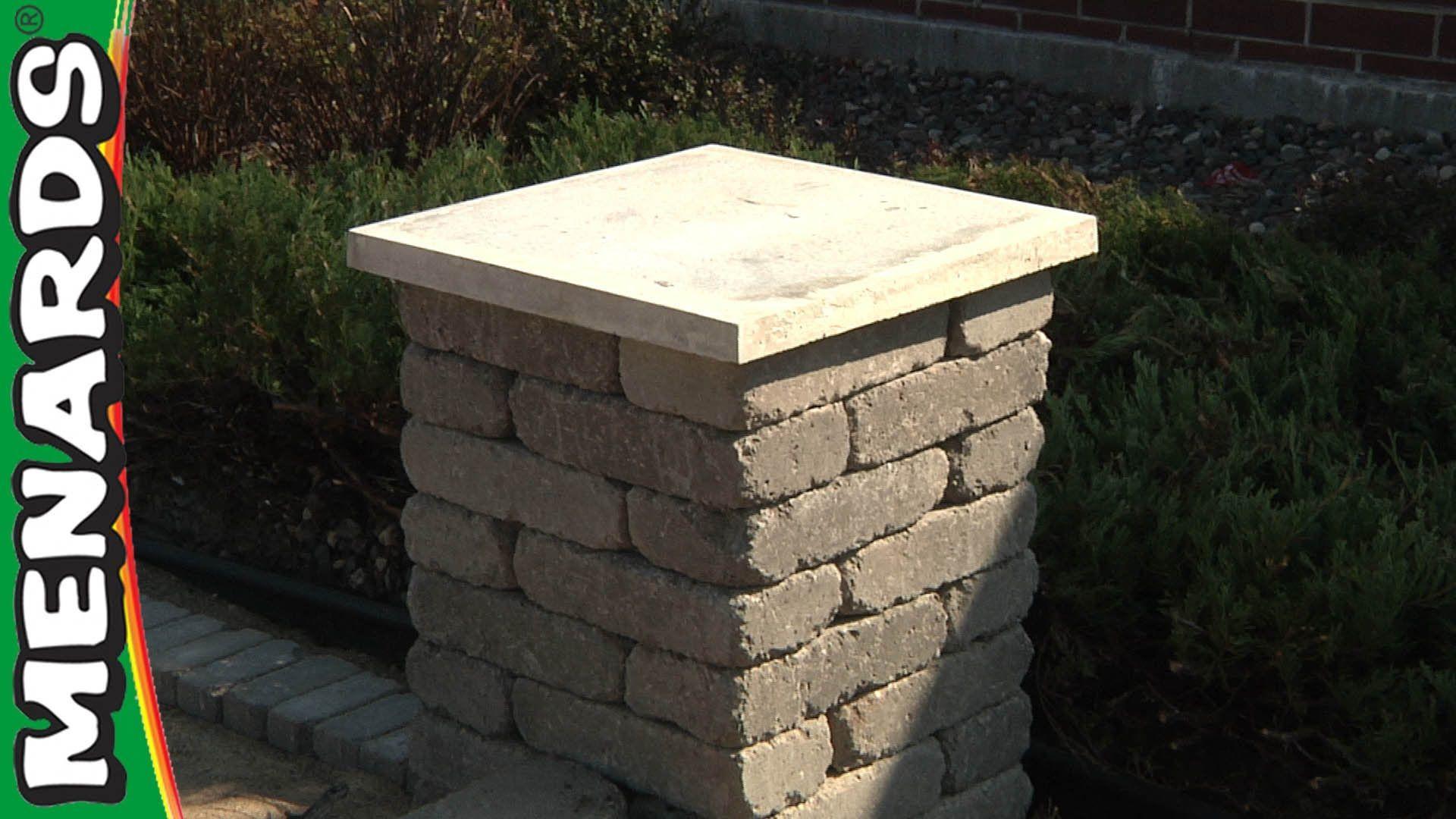 Concrete Block Columns How To Build Menards Brick Columns Concrete Blocks Building Columns