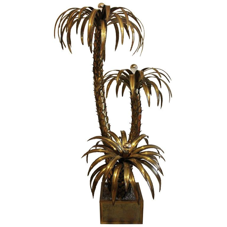 Maison jansen palm tree floor lamp for the home pinterest tree maison jansen palm tree floor lamp aloadofball