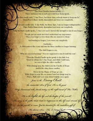 FREE PRINTABLE The Legend of the Christmas Candles- I printed this ...