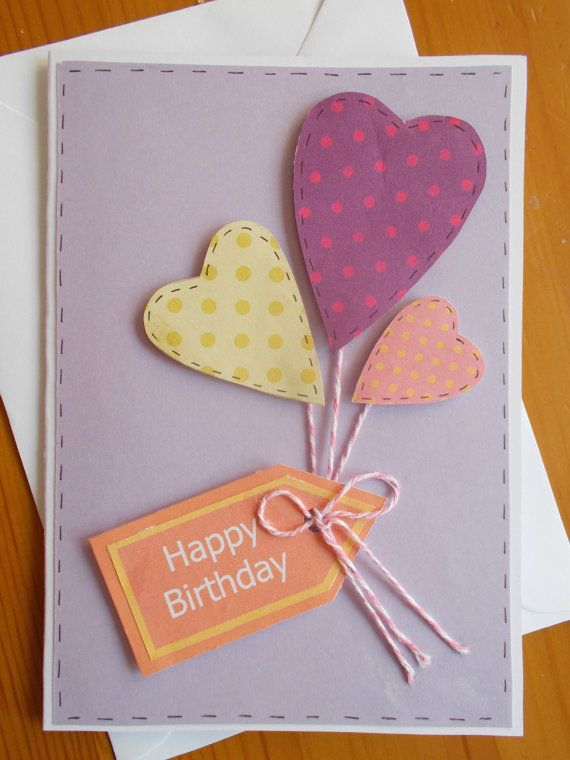 Handcrafted Birthday Card With Embellishments By Cosycraftcorner