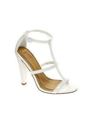 366d63141c5 ASOS HOSTAGE Heeled Sandals. white shoes. elegant bride sandals. heels. low  cost.