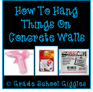 Grade School Giggles shares three ways to hang things on