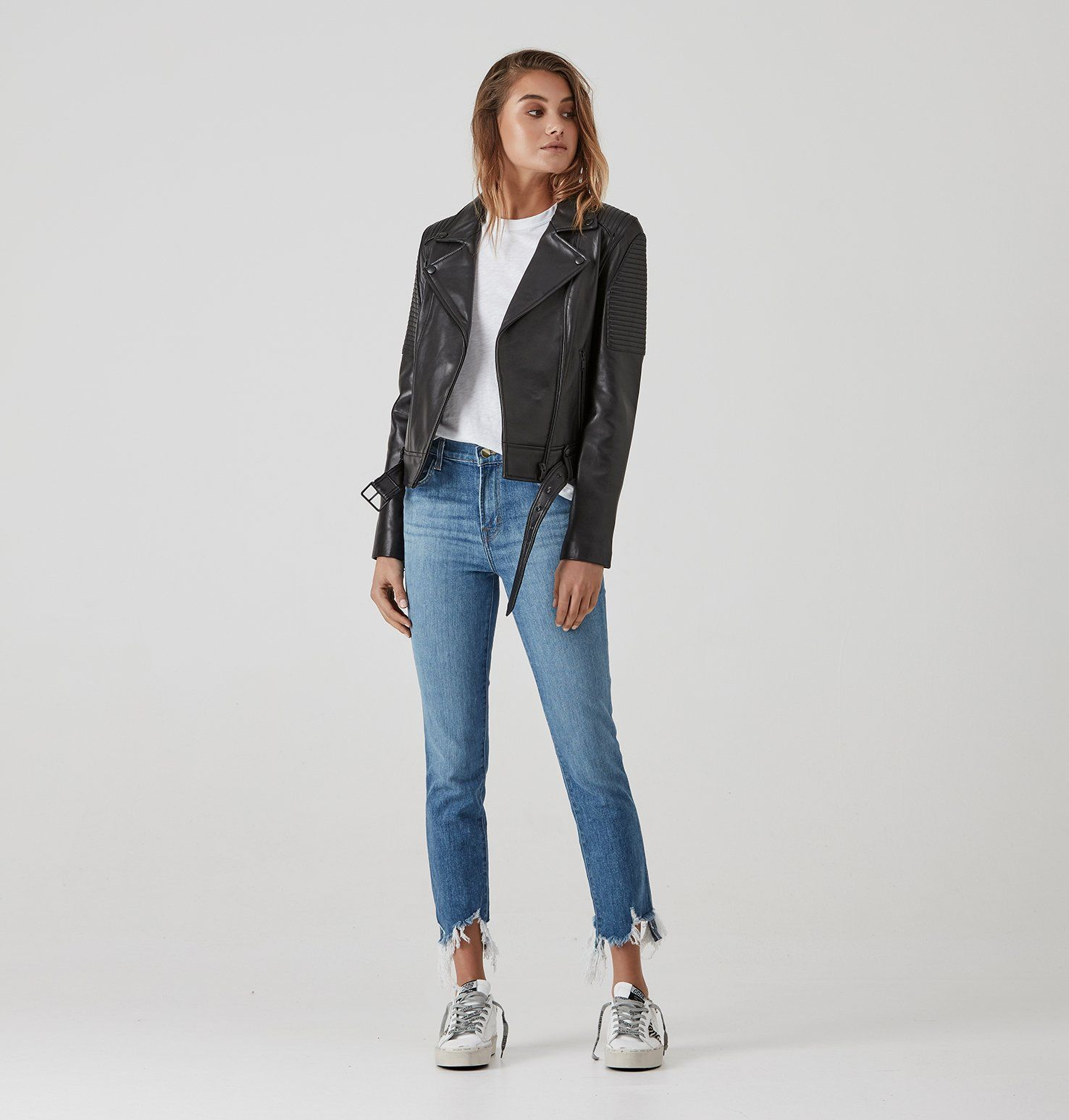 Classic Biker Jacket Black/Black in 2020 (With images