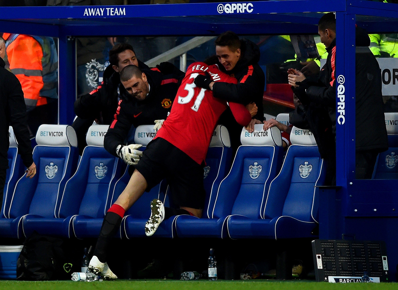 Following Marouane Fellaini's goal against QPR in January