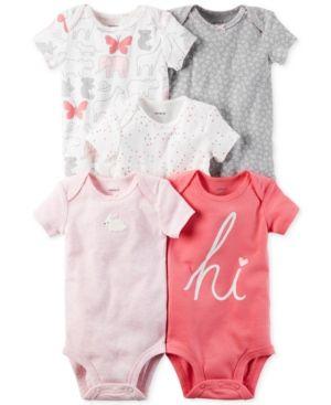 100/% Cotton Newborn Baby Bodysuits for Infant Girls Boys Preemie-24 Months