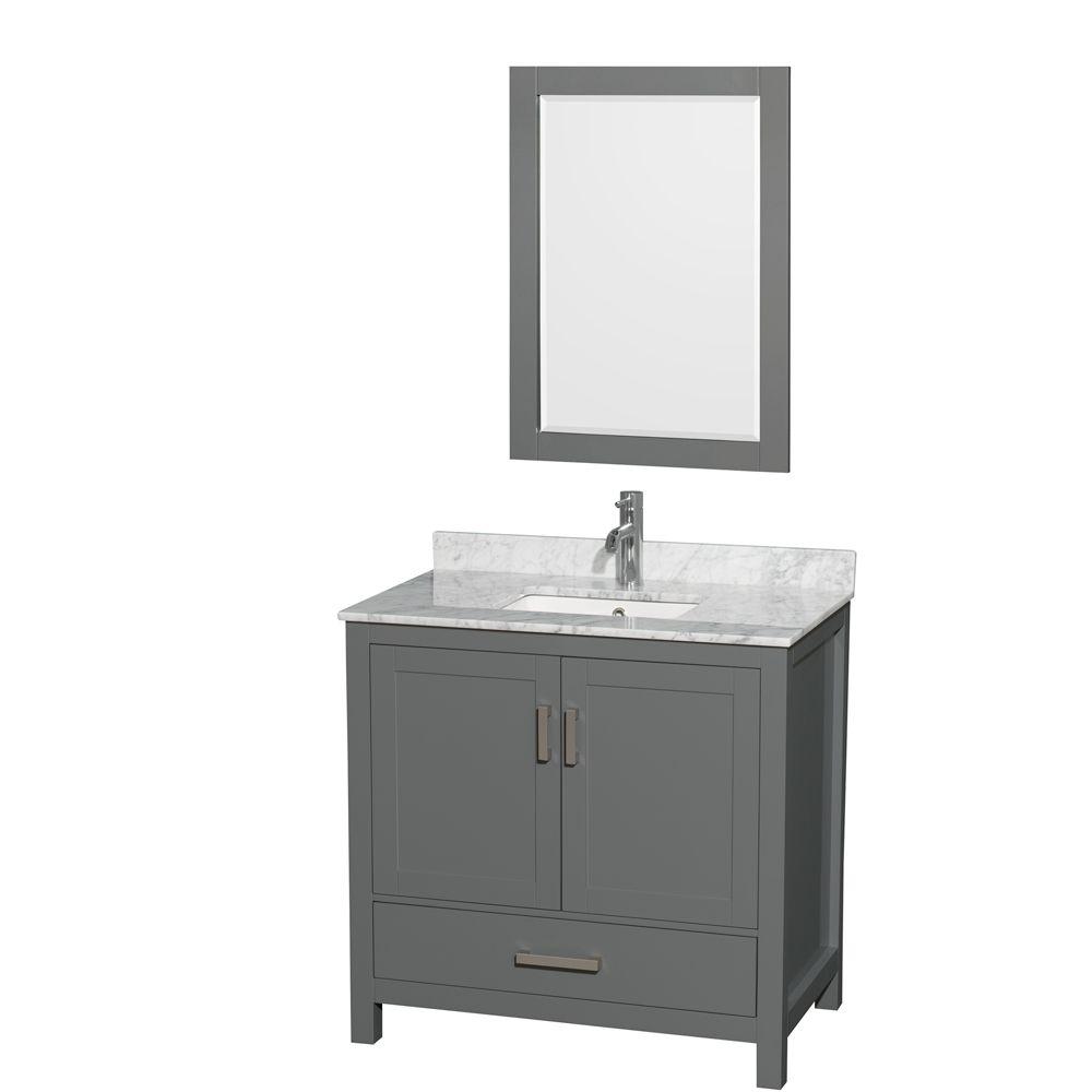 Bathroom Vanity In Dark Gray