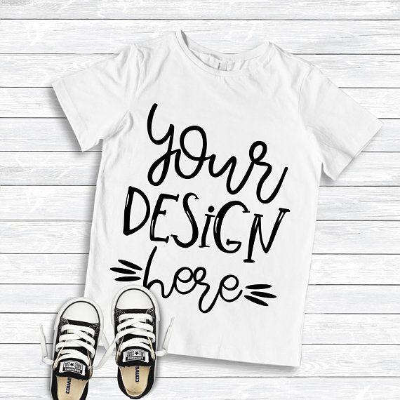 Free Blank Toddler T-Shirt White T-Shirt Mockup Flat (PSD