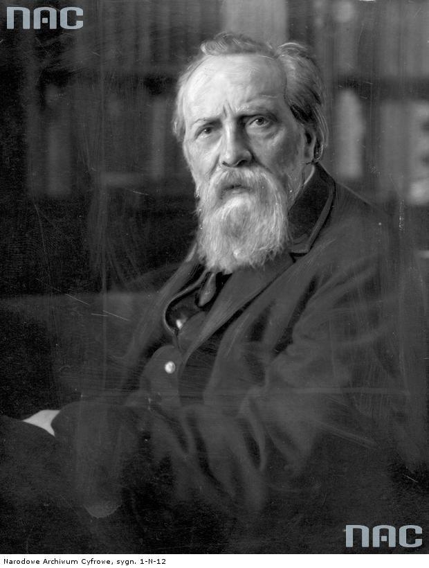 Opis obrazu: Henryk Arctowski - geofizyk, profesor Uniwersytetu Lwowskiego. Fotografia portretowa.