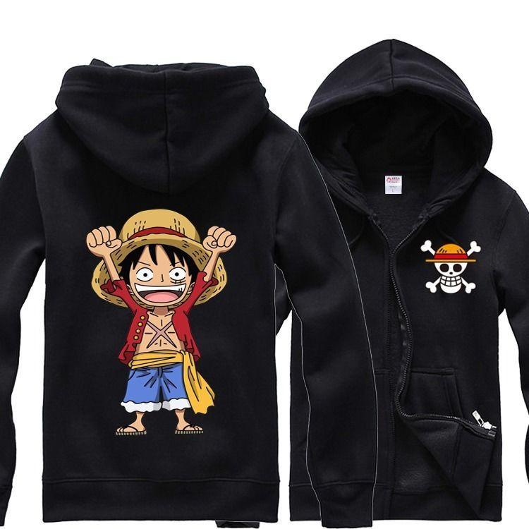 Anime One Piece Hoodie Sweatshirt Monkey D Luffy Cosplay Costume Funny Tops