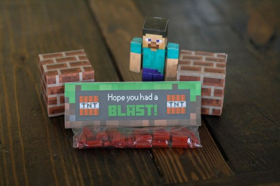 Minecraft Birthday Treat Bag Toppers - Printable Minecraft Party