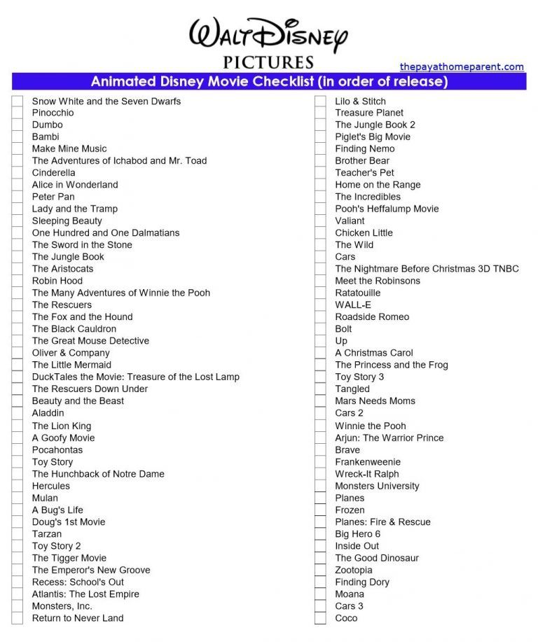 Disney Movies List That You Can Download For FREE #disneymovies