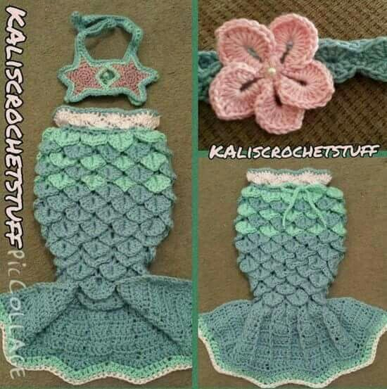 Pin de Stephanie en Crochet Baby Items   Pinterest   Sirenitas, Cola ...