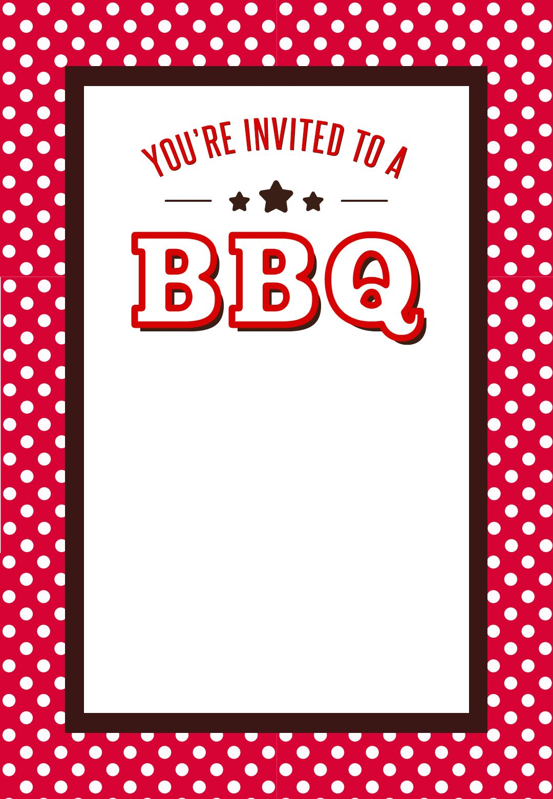Bbq Invitation Template | A Bbq Free Printable Bbq Party Invitation Template Greetings