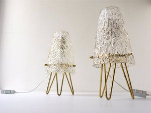 Very Elegant And Stylish Tripod Side Lamps From The 1950s