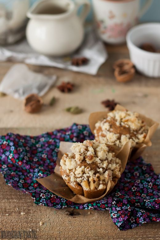 Muffins with masala chai