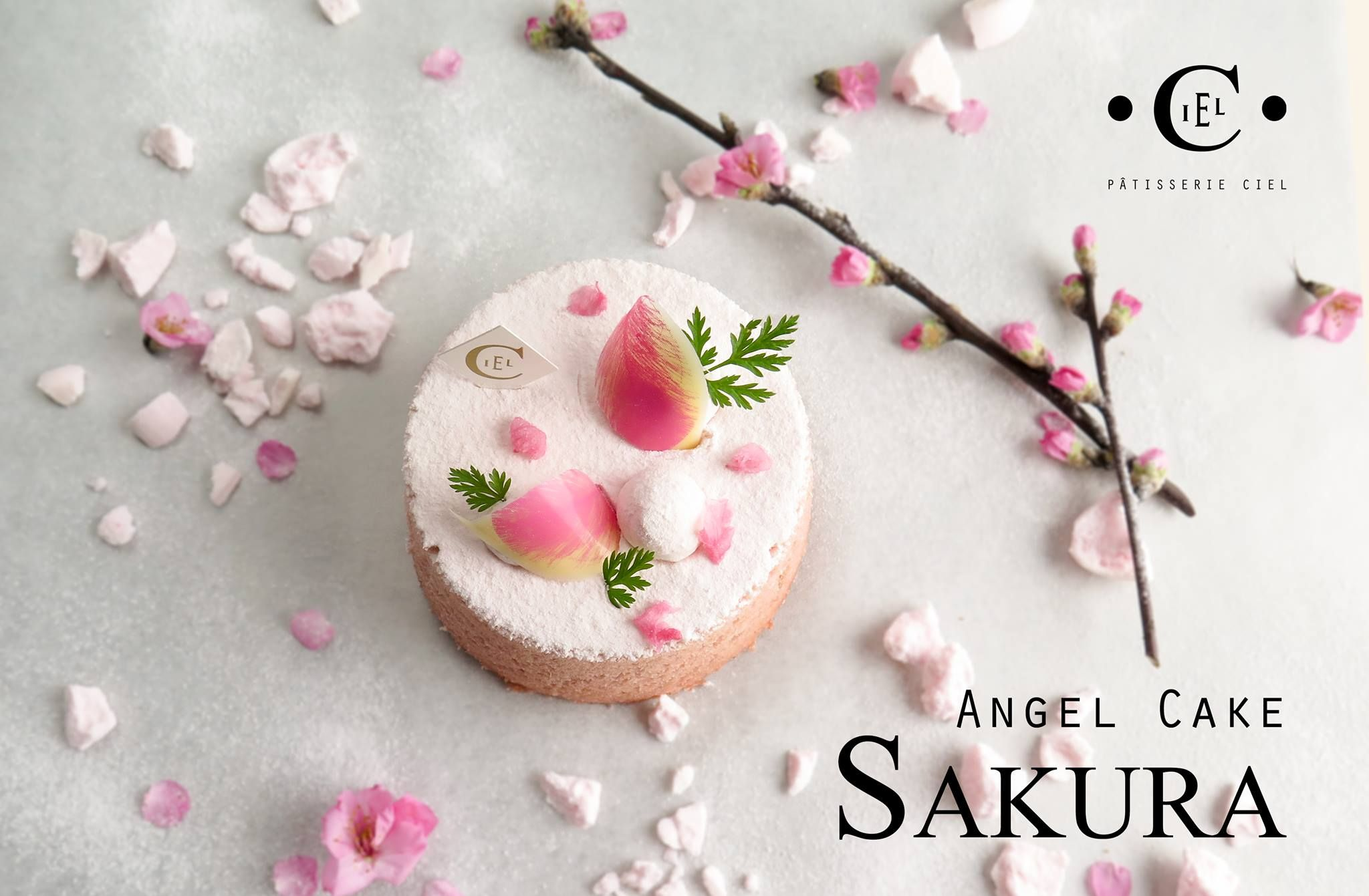 Sakura Angel Cake Patisserie Ciel Patisserie Patisserie Haute Couture Desserts Japonais
