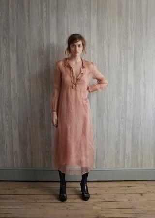 Opal Woman Dress, Dusky Peach