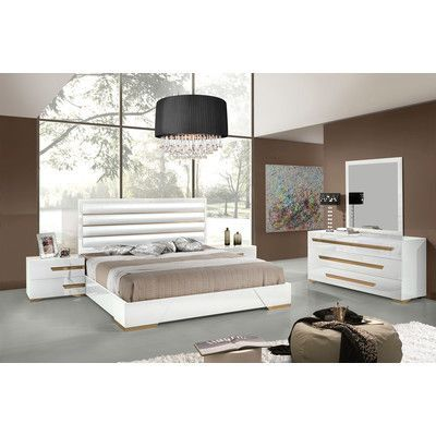 VIG Furniture Modrest Juliet Platform Customizable Bedroom Set - Italian Bedroom Sets