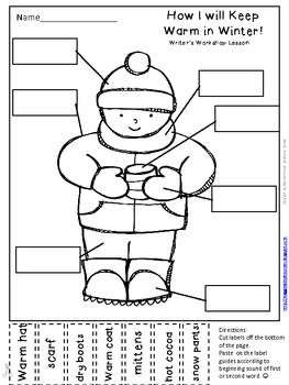 Winter Labeling Activity for Writer's Workshop: How I will
