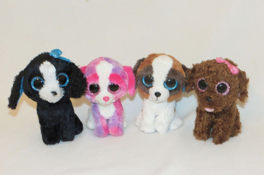 3c08780306e Ty Beanie Boos Puppy Dog Maddie Duke Sherbert Tracey Bow Boo Baby Toy 6