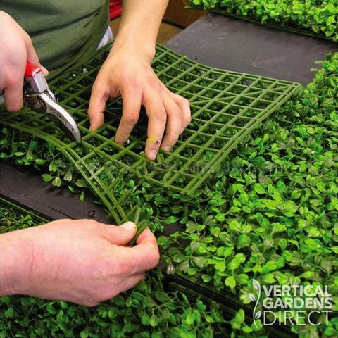 Artificial Boxwood Hedge 1m X 1m Plant Wall Screening Panel Uv