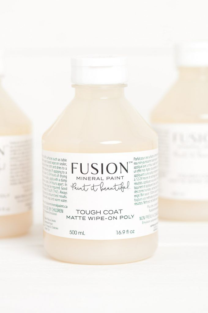 Fusion Mineral Paint Tough Coat Clear 500ml Mineral Paint Wipe On Poly Paint Drying
