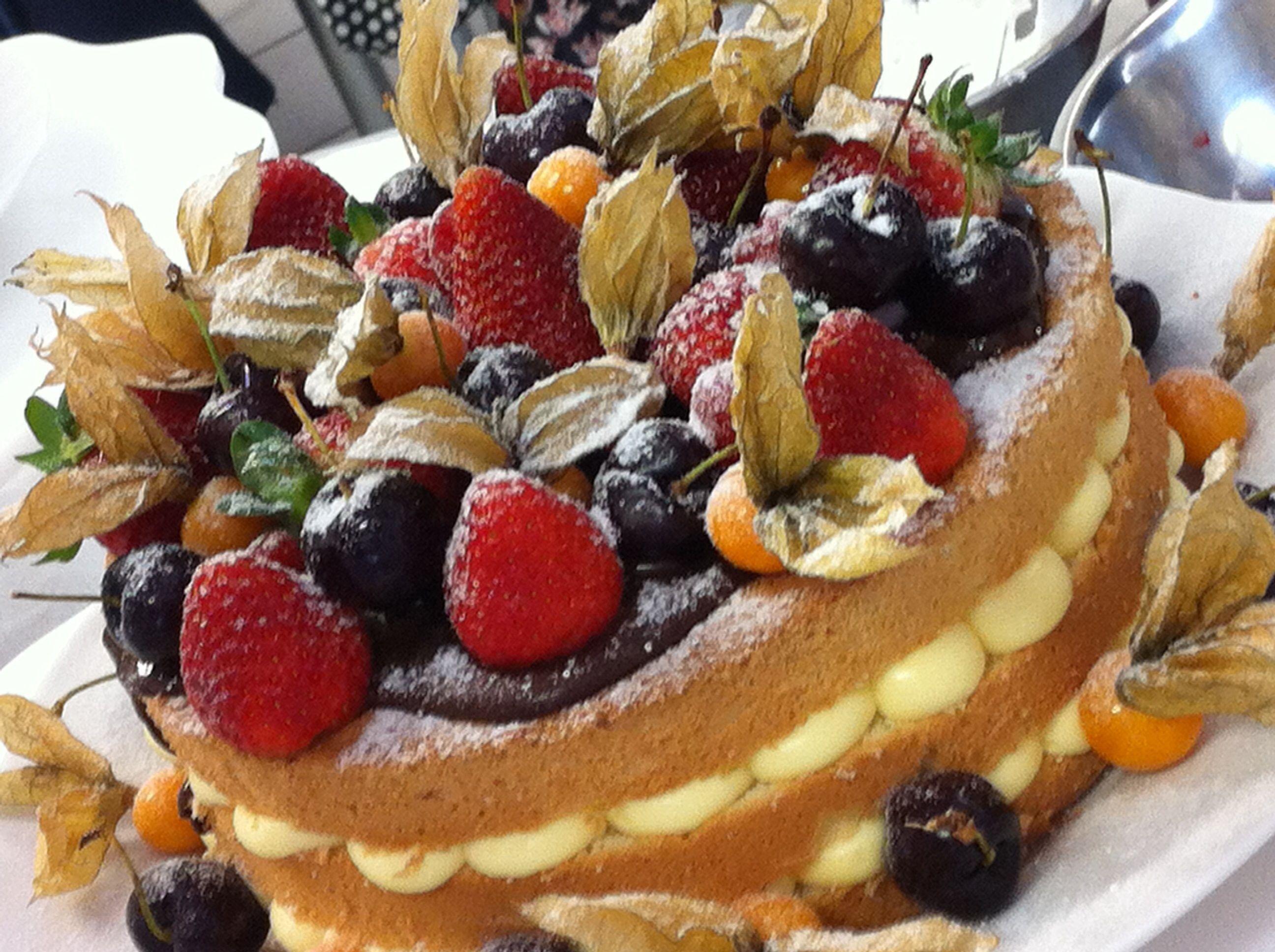 Naked cake de figo e nozes - Sobremesah