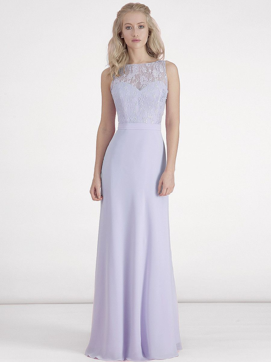 Chiffon and Lace Dress; Color: Pastel Lilac; Sizes Available: 2-26W ...
