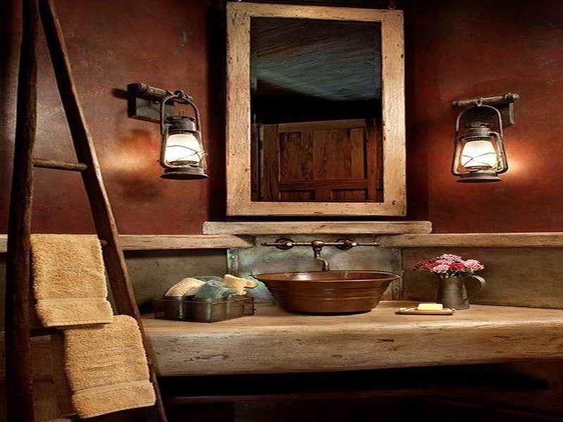 Rustic Half Bath Decorating Ideas Bathroom Decor