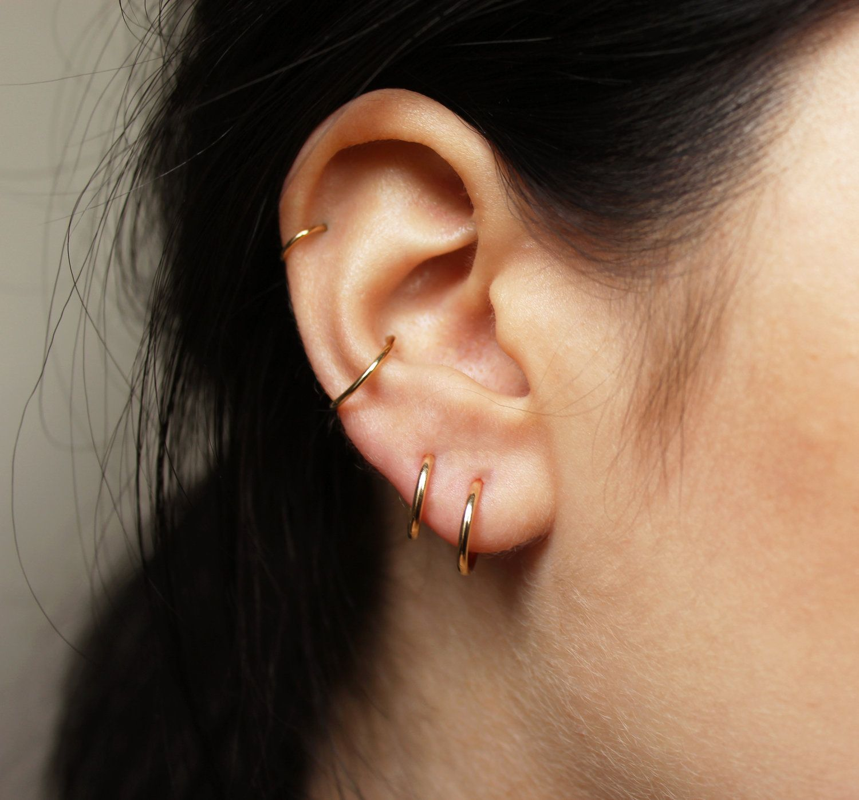 Piercing nose with earring  Un gold hoop earrings  Piercing Ideas  Pinterest  Gold hoops