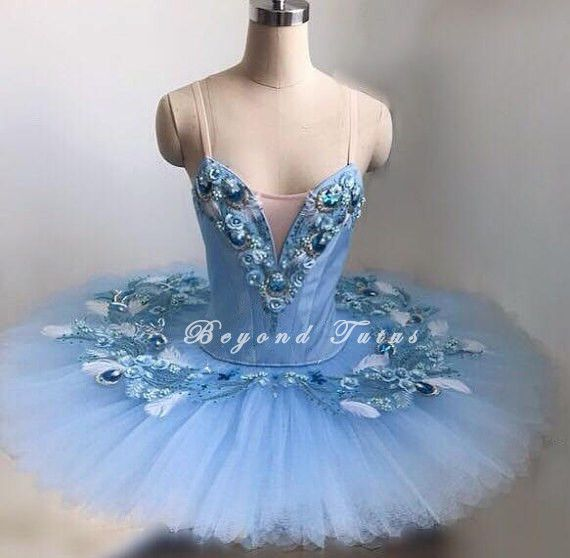 Adult Professional Ballet Platter Tutu Skirt Dancing Dress Blue Classic Costume