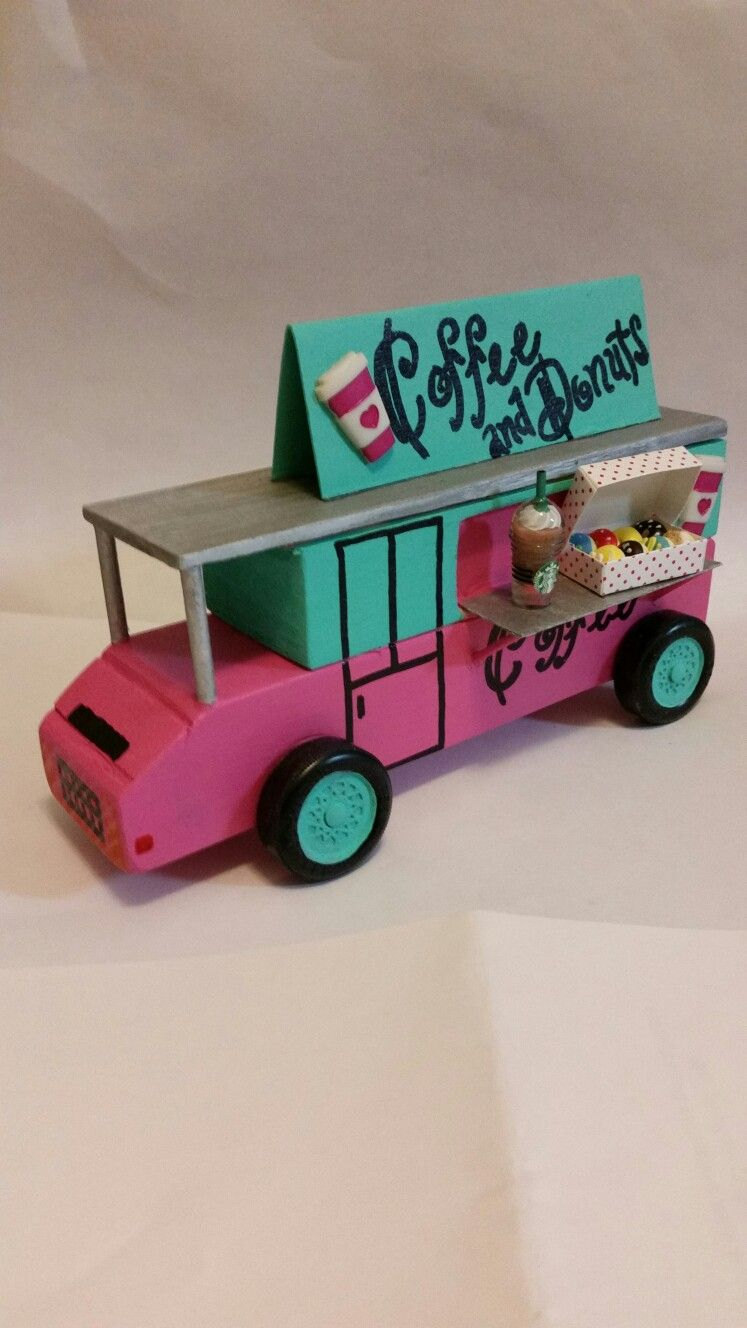 Coffee And Donut Food Truck Pinewood Derby Car