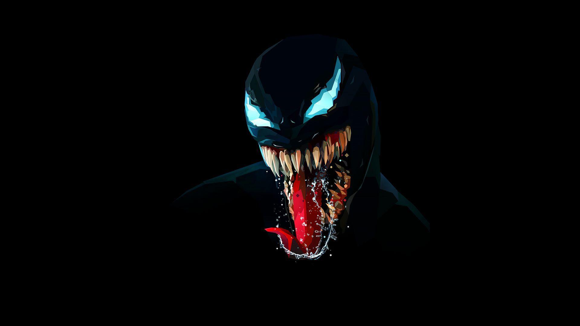 Download Wallpapers Of Venom Artwork Minimal Dark Background