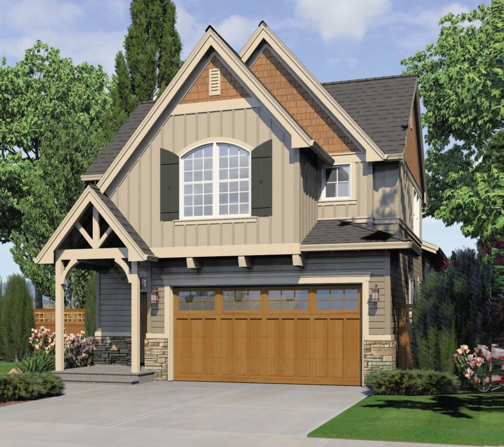 Houseplans Narrow lot house plans, Craftsman style house