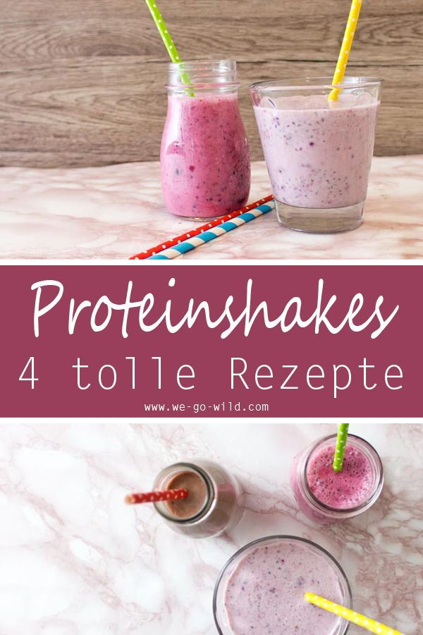 Abnehmshakes selber machen: 4 leckere Diätshakes #proteinshakes