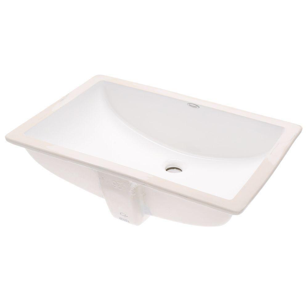 American Standard Studio Rectangular Undermount Bathroom Sink in ...