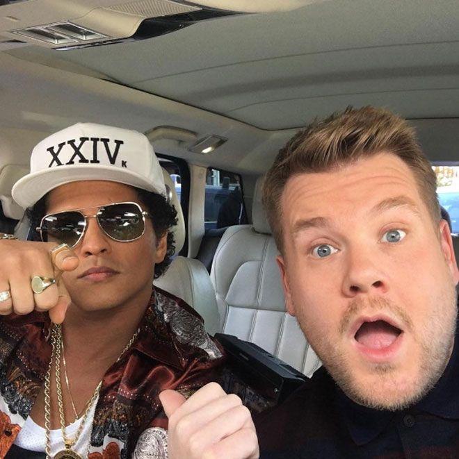 Bruno Mars Carpool Karaoke'de