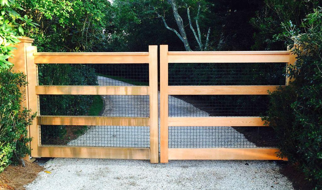 Driveway Gates East Hampton Fence Gate Driveway Gate Wooden Gates Driveway Wood Gates Driveway