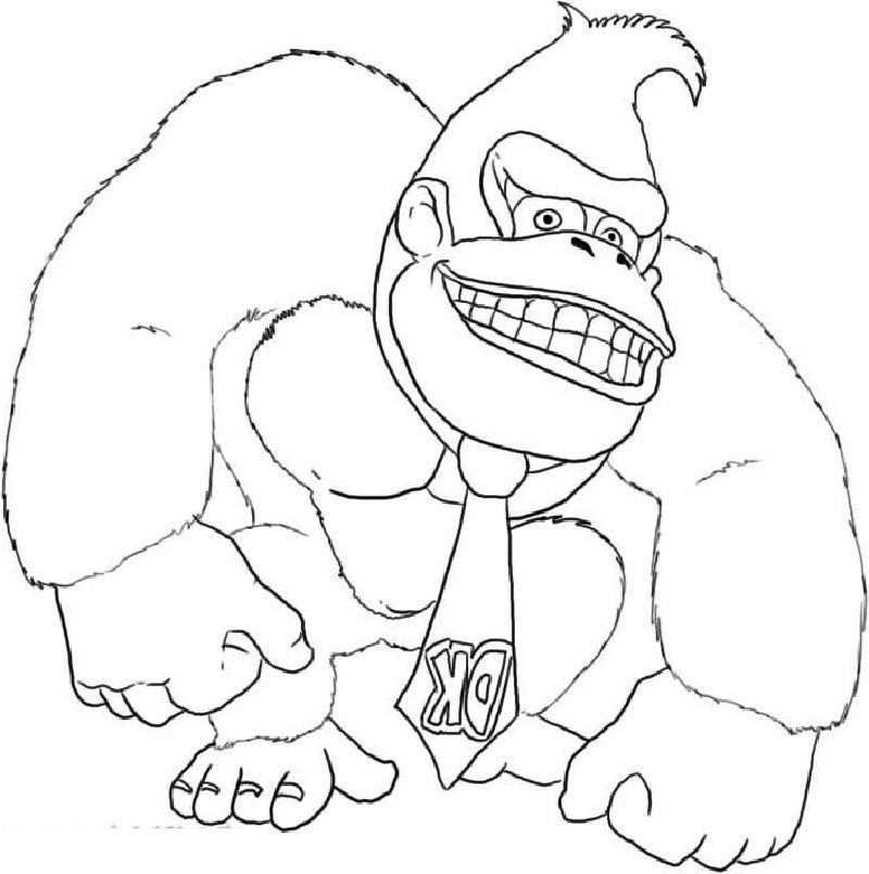 Donkey Kong Coloring Pages | Coloring pages