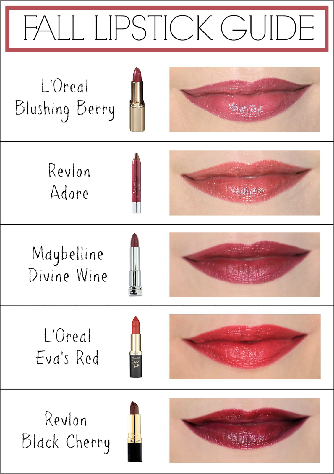 Fall Lipstick Guide - Penny Pincher Fashion