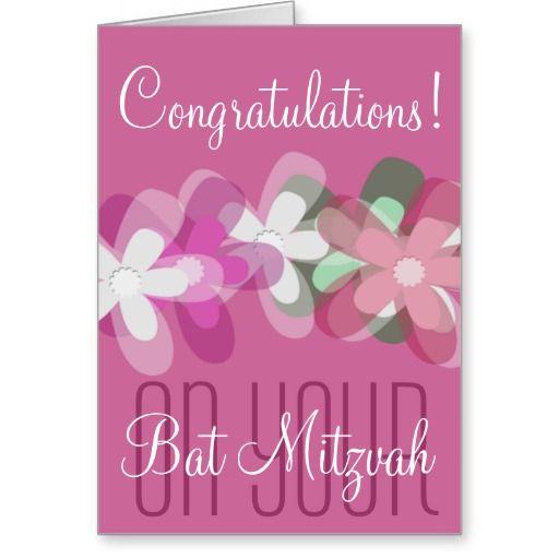 Congratulations on your bat mitzvah floral card bat mitzvah bats discount deals congratulations on your bat mitzvah floral greeting card in each seller m4hsunfo