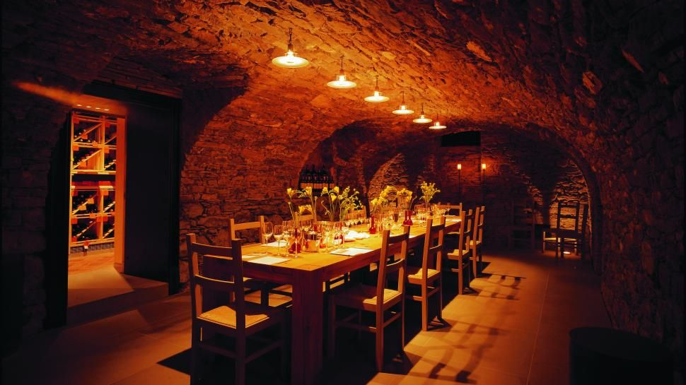 Separate The Wine From The Dining Vaulted Wine Cellar