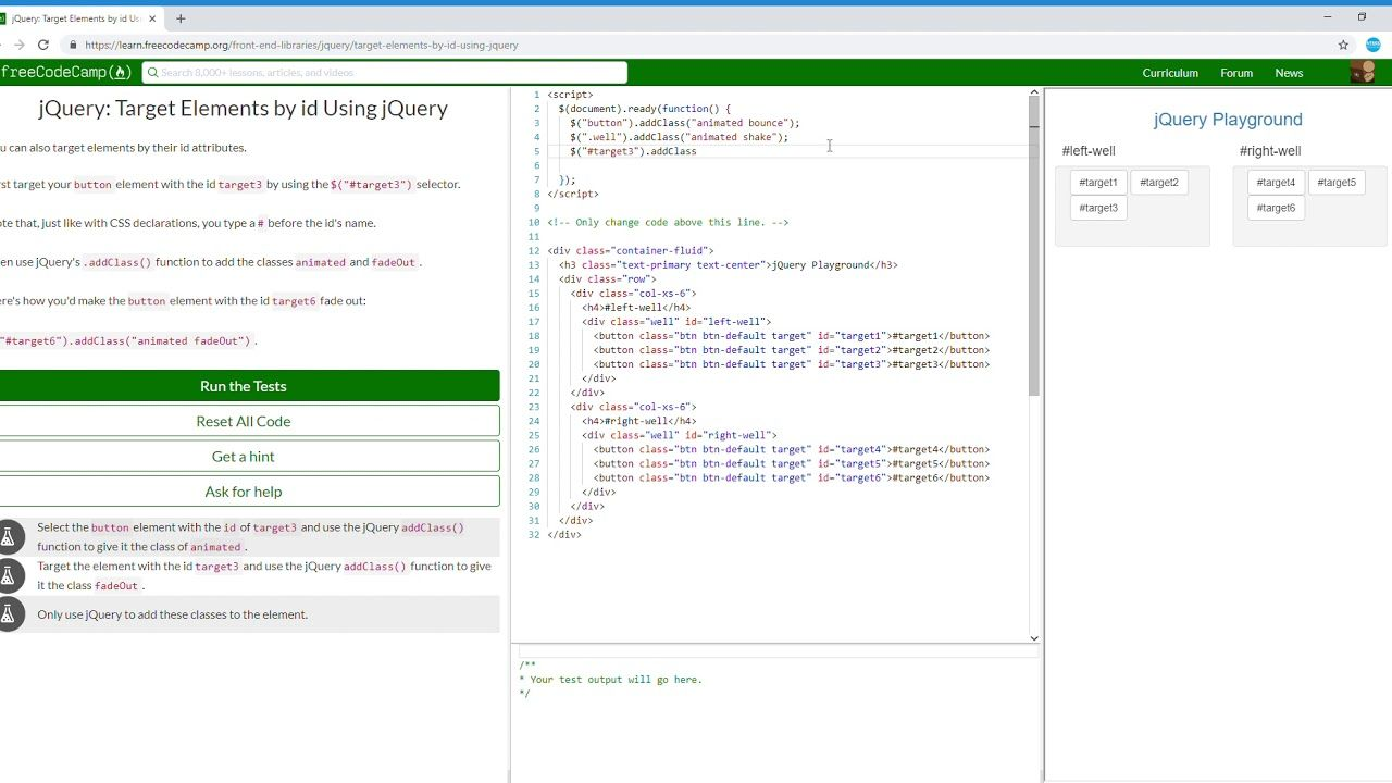 4/18 jQuery Target Elements by id Using jQuery Learn