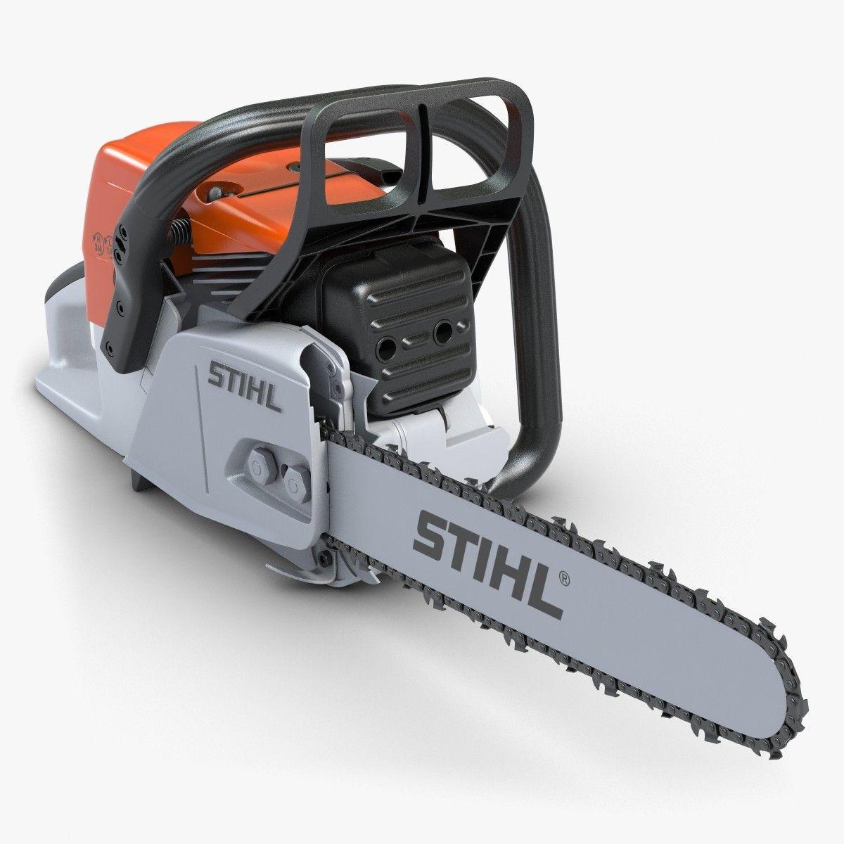 Chainsaw Stihl 1 Chain 3d Max 3d Model Chainsaw Stihl Stihl