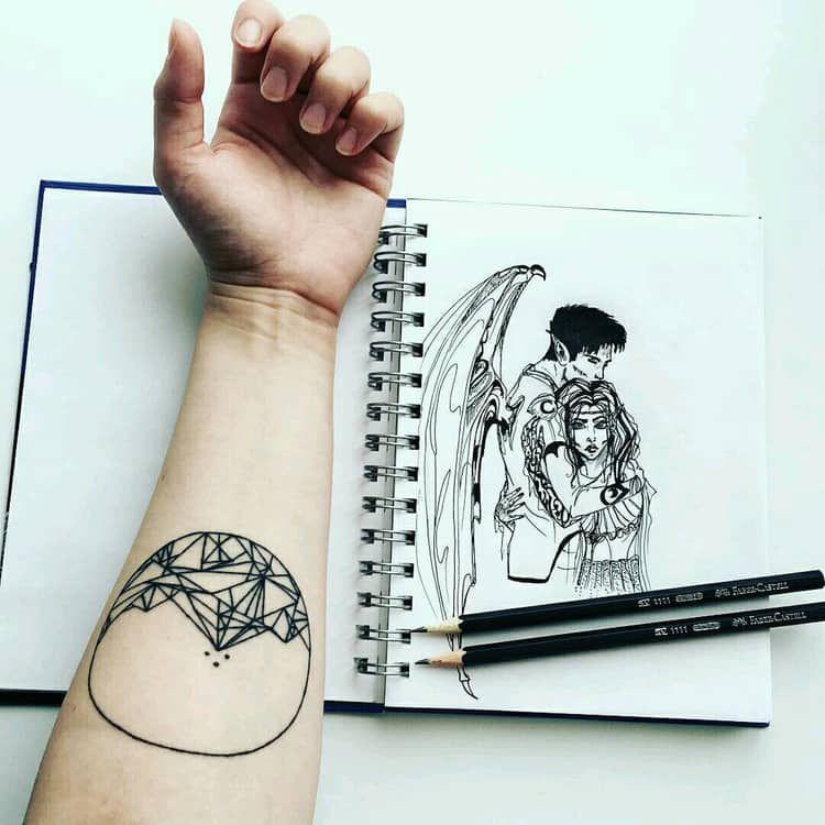 Ryhsand And Feyre Birthdate Tattoo Glyph Tattoo A Court Of